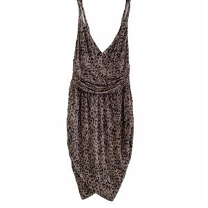 GUESS fitted animal print dress
